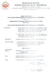 SK IPSI: Skep-122/8/07 tentang Pengangkatan Persinas Asad sebagai Anggota IPSI