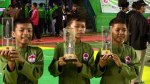 Atlet Persinas-Asad saat penyerahan Medali Kejurnas Remaja ke-4 Persinas Asad 2013